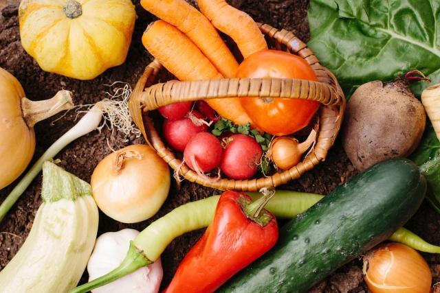 白髪と野菜
