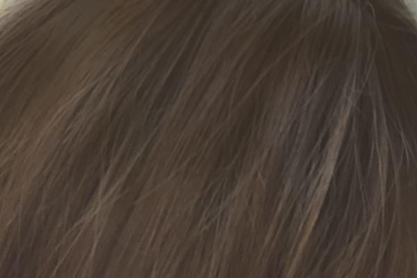 マイナチュレの白髪染めを2回使ったアップの髪色