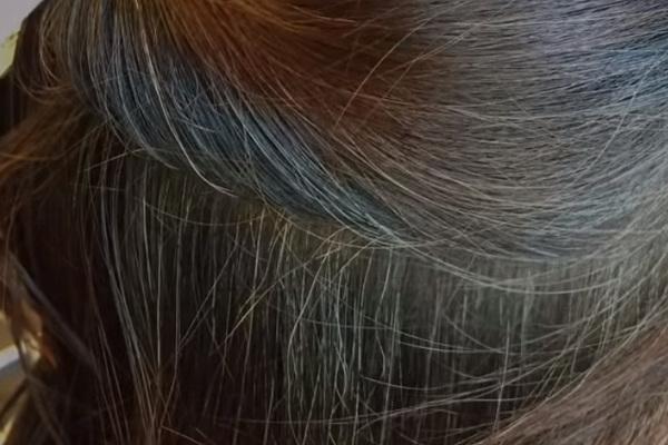 マイナチュレの白髪染めのモニターの使用前